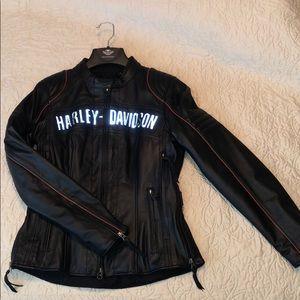 women's Harley-Davidson waterproof leather jacket